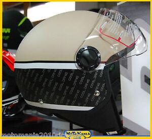 CASCO-MOTO-DEMI-JET-BHR-801-ONE-COOL-DRIVE-BEIG-VISIERA-SAGOMATA-TG-S