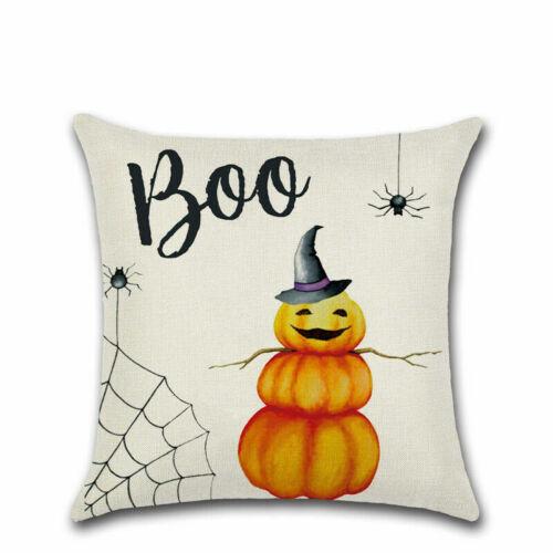 Pillow Case Fall Waist Sofa NEW Halloween Throw Pumpkin Decor Home Cover Cushion