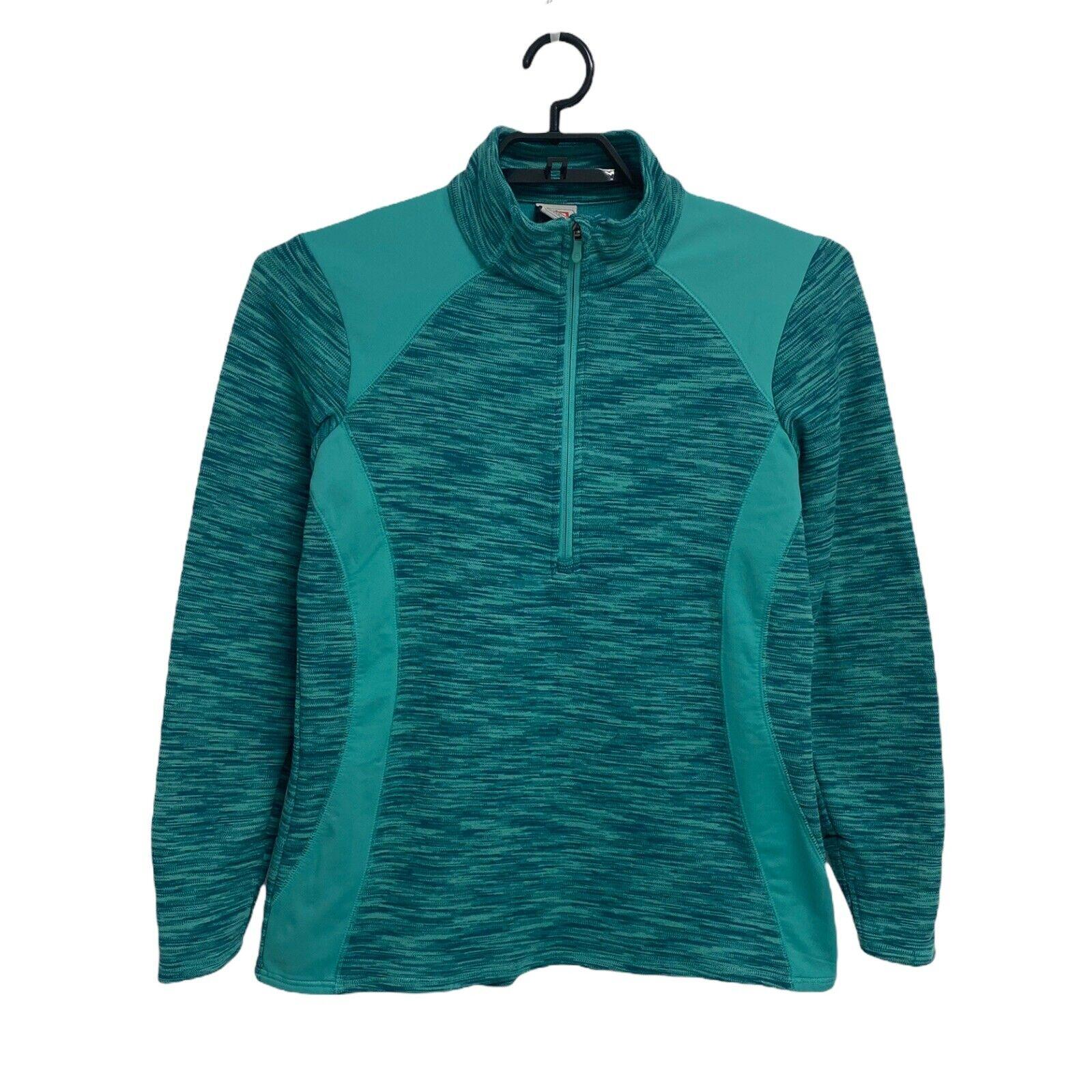 Avalanche Damen Sweatshirt Halb Reißverschluss Vorne Grün Größe XL