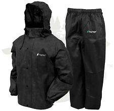 Frogg Toggs All Sport Rain Suit Jacket & Pants Gear Wear Sports Frog Black 2XL