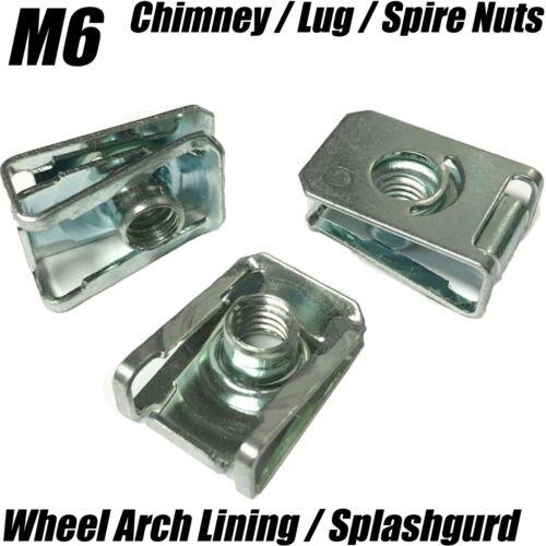 20x ROUE ARCH Doublure SPLASH GARDE pare-chocs M6 U Nut LUG Spire Écrou pour BMW AUDI VW