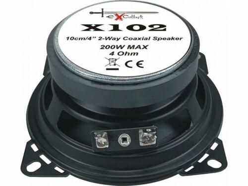 C107 Excalibur Lautsprecher X107 200W 100 mm 2 Wege Koax für Mercedes SL R