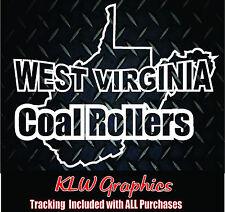 West Virginia Coal Rollers * Decal Sticker Powerstroke Truck Diesel Stacks 2500