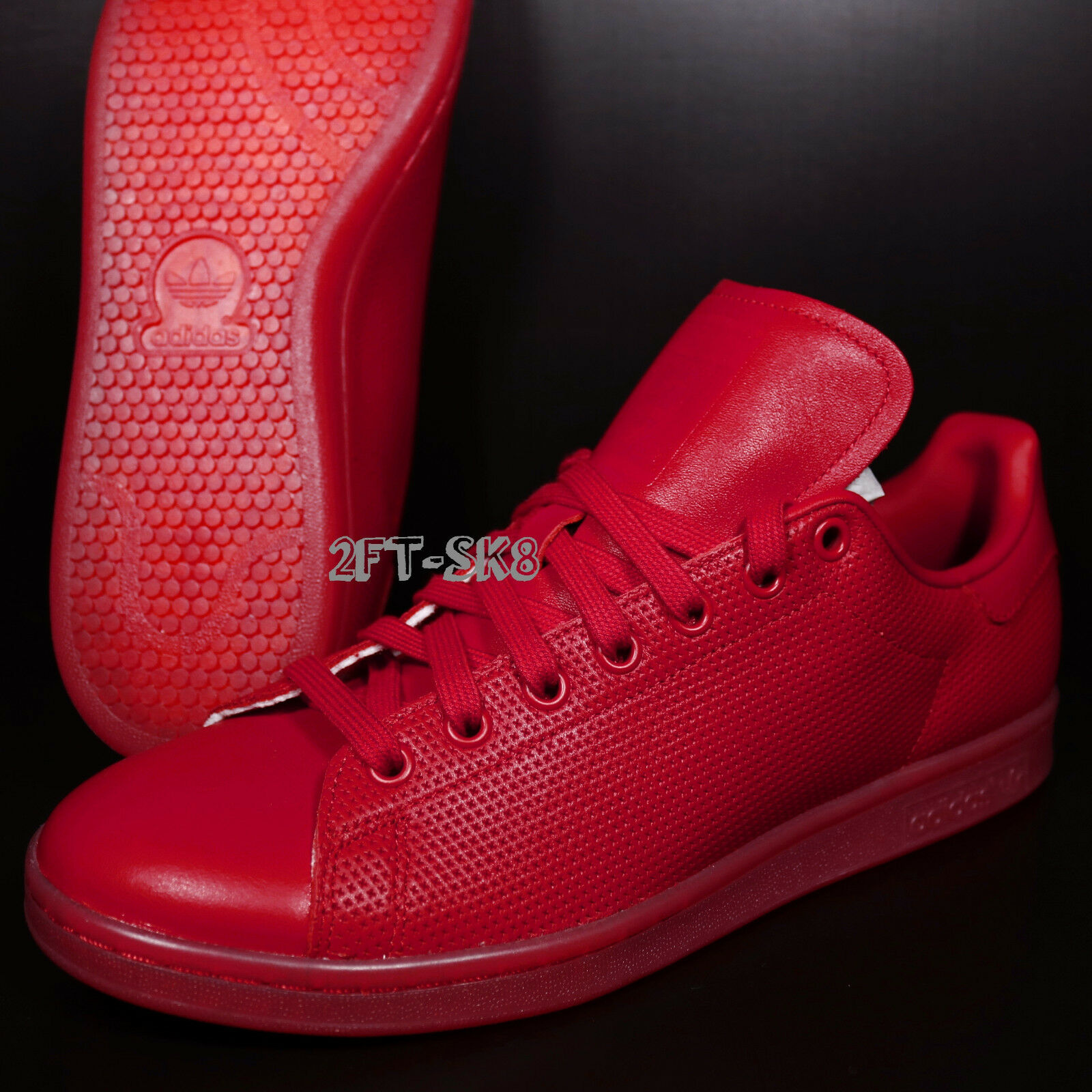 Adidas Originals STAN SMITH ADICOLOR RED MEN'S SHOES SNEAKER   S89226.194