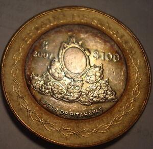 Mexico-100-Pesos-Silver-Bi-Metalic-State-Of-Sinaloa-2007