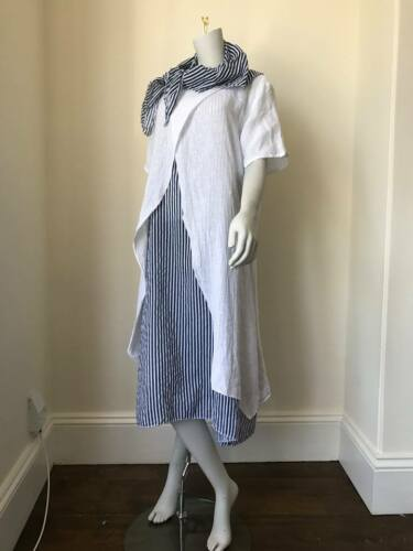 LAGENLOOK LMT Italian Linen 3 Piece Dress Navy//White Stripe UK 8 10 12 14 16 18