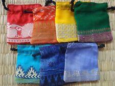 7er set chakra farbiger seide satin kordelzug mini beutel circa 7 cm x 8 cm