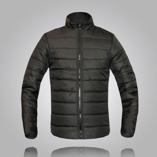 Mens Long Sleeve Thick Padded Winter Coat Overcoat Casual Warm Outwear Jacket