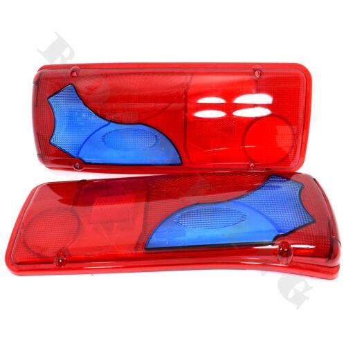 2x Lichtscheibe Heckleuchte Ersatzglas Rücklichtglas BLAU MAN TGM TGX TGA TGL