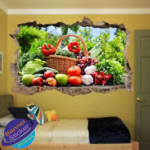 Organic Vegetable Healty Fruits Poster Wall Sticker 3d Art
