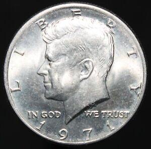 1971-U-S-A-Kennedy-Half-Dollar-Cupro-Nickel-Clad-Copper-Coins-KM-Coins