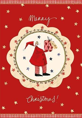 SILKE LEFFLER*Weihnachten*Postkarte*Santa/& Engel*10 x15cm*