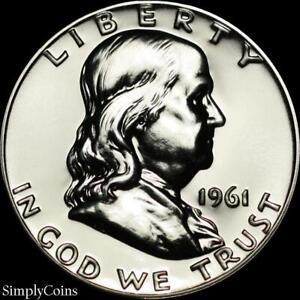1961-Franklin-Half-Dollar-GEM-Proof-Uncirculated-90-Silver-US-Coin