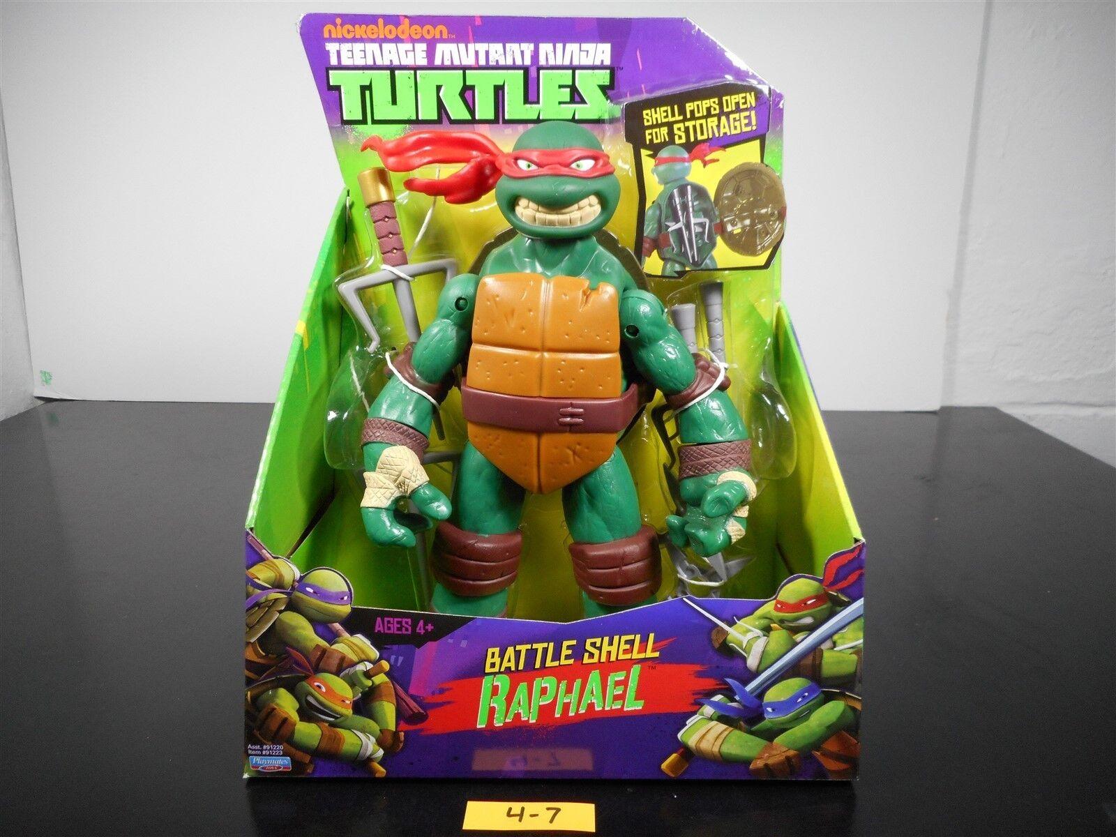nuevo    Nickelodeon Teenage Mutant Ninja Turtles Battle Shell Raphael Raph 4-7