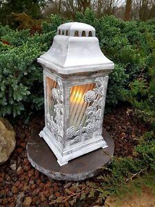 Grablaterne mit Granitsockel Grablampe Grableuchte Granit Grablicht Grab Kerze
