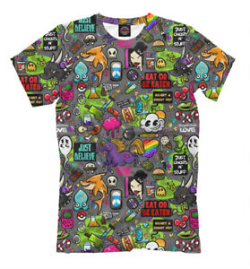 sticker art t shirt all over print tee sticker tagging style image