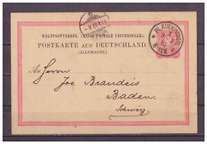 Deutsches-Reich-Ganzsache-P-8-II-02-K-1-Plauen-nach-Baden-Schweiz-1883