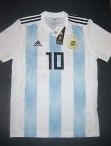 379d98043 2018-2019 World Cup Adidas Argentina Lionel Messi Home Jersey Shirt ...
