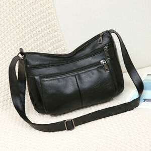Fashion-Women-Shoulder-Messenger-Bag-Leather-Soft-Zipper-Crossbody-Handbag