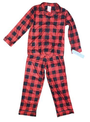 Wondershop Kids Holiday Pajamas Buffalo Check Red /& Black Sizes 6-9M 8 10 12M