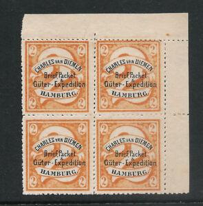 Germany Hamburg Charles Van Dimen Rare 2gr Rouletted Block Free