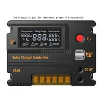 20A PWM Charge Controller LCD Display Solar Panel Battery Regulator 12V 24V I4FS
