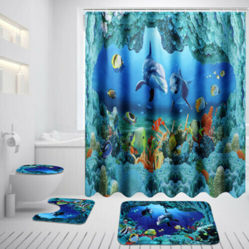 Vorräte Dusche Vorhang Toilettendeckelabdeckung Teppich Baden High Quality