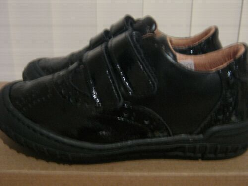 Froddo Black Patent Leather School Shoes Touch Straps Medium Fit SALE
