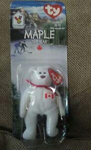 eeb97ec8f37 MAPLE The Bear-1999 McDonalds Ty Beanie Baby with RARE ERRORS 1993 ...