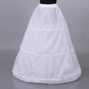 1Pc-Women-3-hoop-crinoline-wedding-ball-gown-bridal-dress-petticoat-skirt-Q