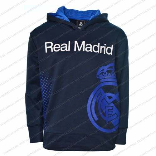 Real Madrid Jacket Sweatshirt youth kids zip up hoodie Navy new season