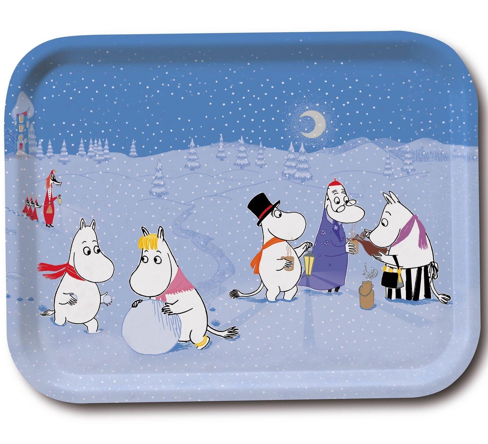 Moomin Tablett Winter Spiele 27 X 20 cm Optodesign