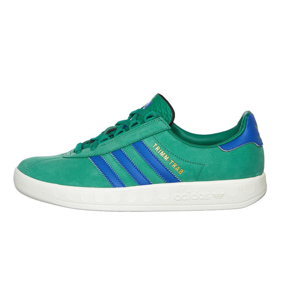 Adidas - Trimm Trab Bold Grün   Blau   Cream Weiß Turnschuhe Sportschuhe EE5742