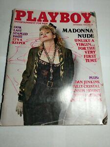 PLAYBOY SEPTEMBER 1985 - MADONNA NUDE - LAST STAPLED ISSUE