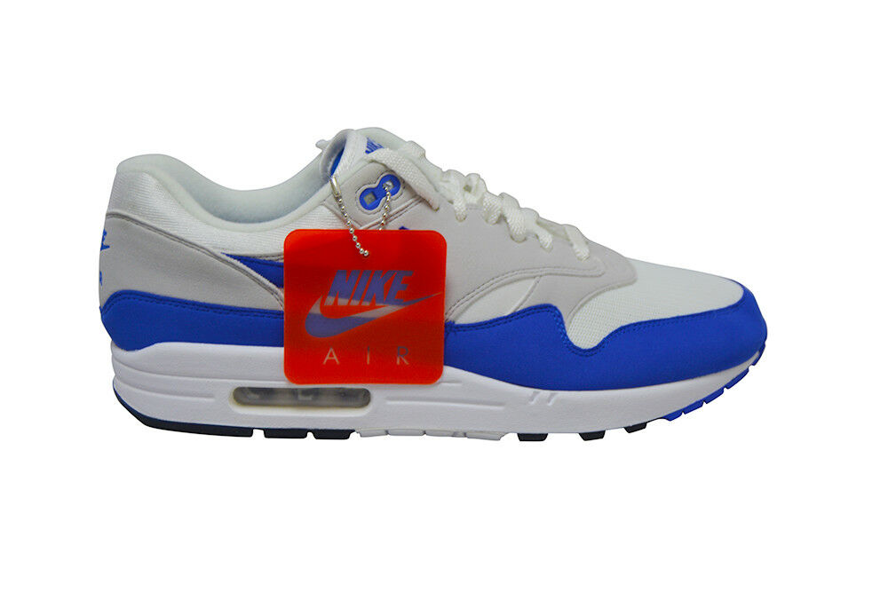 Mens Nike Air Max 1 OG Premium Anniversary - 908375102 - White bluee Trainers