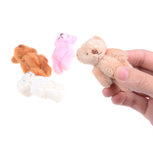 Mini 6 cm fluffy bear plush stuffed baby toy doll for kids candy box gifts tHK