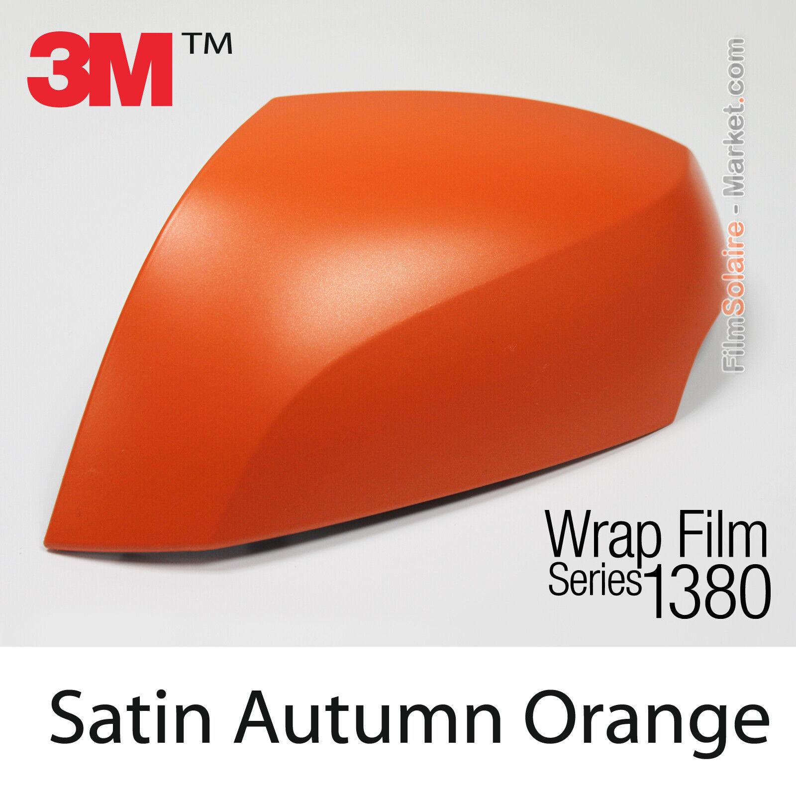 Raso Autunno Arancione Metallizzato 3M 1380 S284 New Ser Car Wrapping Copertura