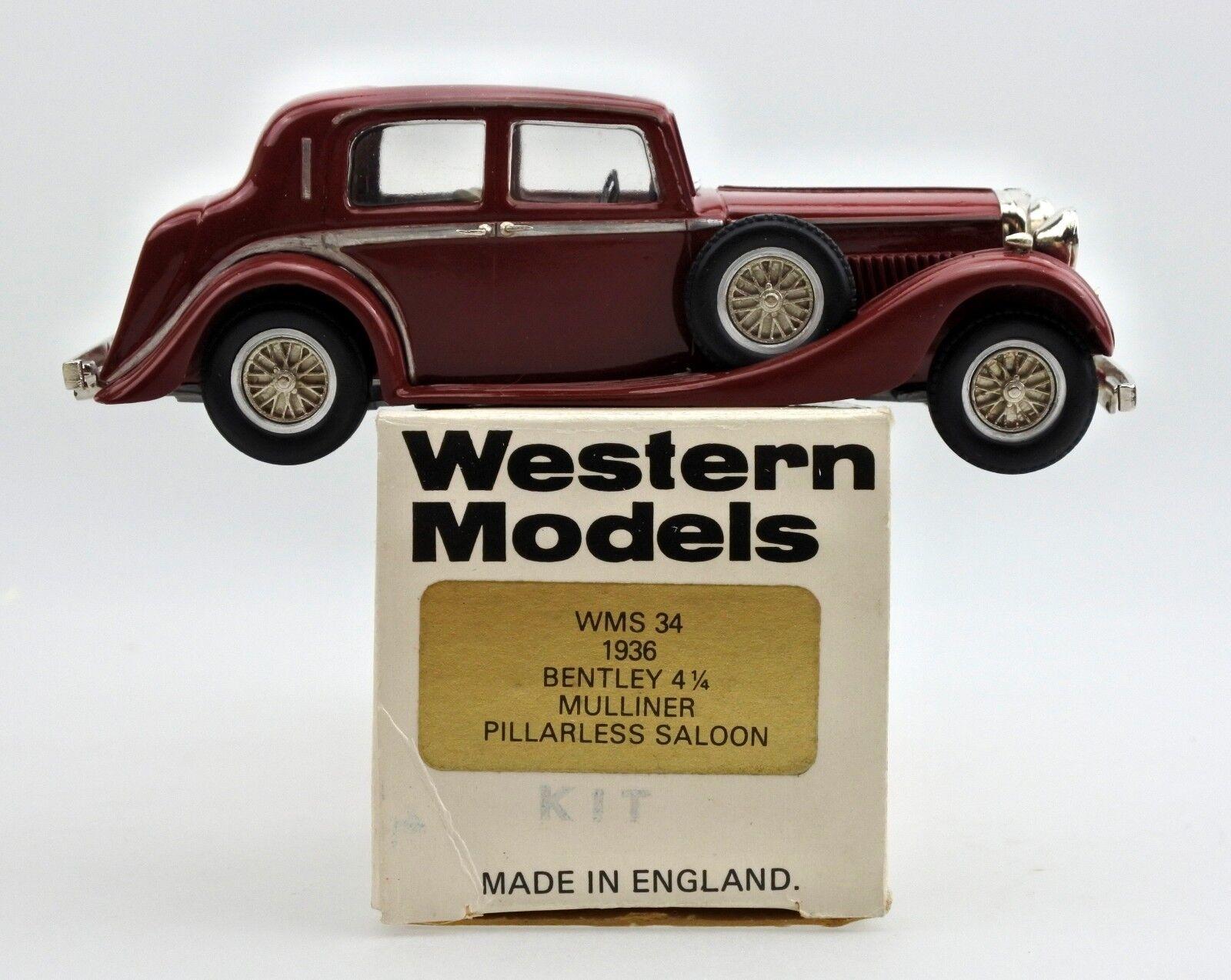 Westliche modelle 1   43 wms34 druckguss 1936 bentley 4 - 1   4 mulliner pillarless saloon