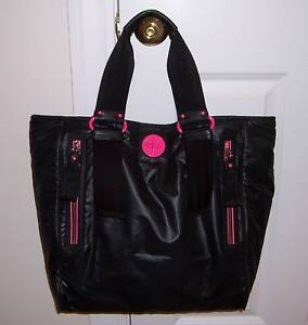 Image Is Loading Nwt Juicy Couture Pop Lock Nylon Xl Tote