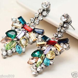 Design-Lady-Bib-Statement-clear-crystal-long-Ear-Studs-earrings-hot-1-7-8-034-e267