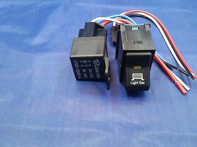 Jeep TJ Wrangler 1997-2006 Light Bar Switch ON-OFF & 40 AMP RELAY With Pig Tail