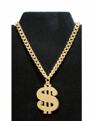Rubies Dollar Necklace Costume Accessory Yellow//Black//White