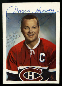 new product 0299b df038 Details about GLOSSY CARD SIZED AUTOGRAPHED BY DOUG HARVEY~MONTREAL  CANADIENS (1960-61)