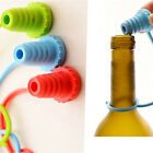 Anti-lost Silicone Bottle Stopper Cork Hanging Button Red Wine Beer Cap Plug