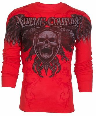 Xtreme Couture AFFLICTION Mens THERMAL T-Shirt FACTORY Tattoo Biker UFC M-XL $58