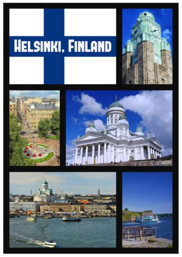 Cadeaux// Helsinki,Finlande Sites Souvenir Nouveauté Aimant de Réfrigérateur