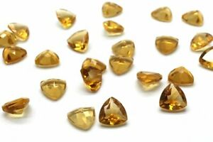 3x3mm-To-10x10mm-Trillion-Faceted-Cut-Natural-CITRINE-Loose-Gemstone-CITRINE