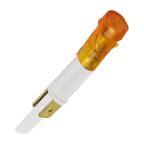 Universel Orange Pour Four Cuisinière sur Lampe néon indicateur Ampoule 11 mm 230 V 2 Tag