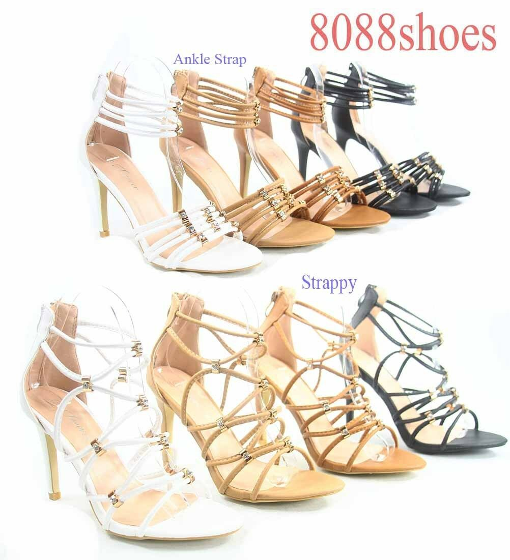 Women's Sexy Strappy Ankle High Strap Open Toe Zip High Ankle Heel Sandal Shoes Size 5 - 10 9acfb5