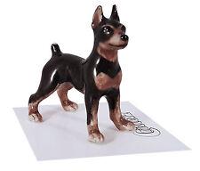 ➸ LITTLE CRITTERZ Dog Miniature Figurine Miniature Pinscher Min Pin Zeus